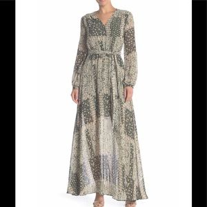 AAKAA Printed Long Sleeve Maxi Dress, 1 Left!!!